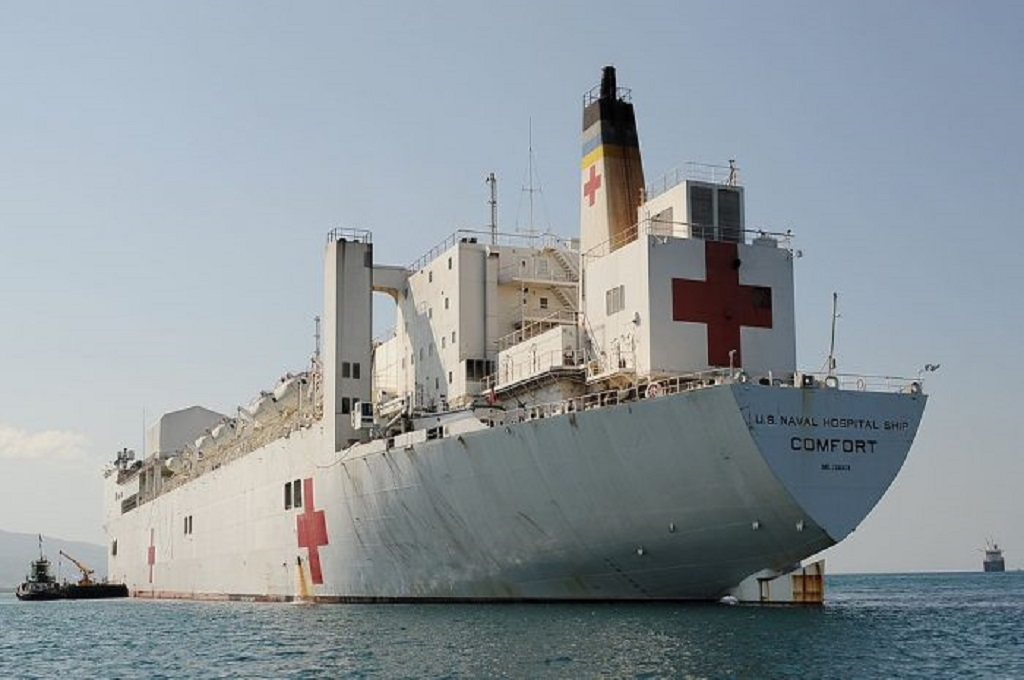 Kapal USNS Comfort. (Foto: Stan Honda/AFP/Getty Images)