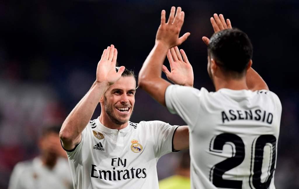 Gareth Bale (kiri) sukses menyumbang gol untuk Real Madrid saat menghadapi Getafe (Foto: AFP/Javier Soriano)