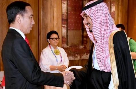 Presiden Joko Widodo menerima kunjungan Pangeran Abdulaziz bin