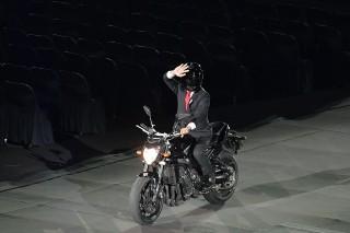 Kerennya Helm Jokowi di Pembukaan Asian Games 2018