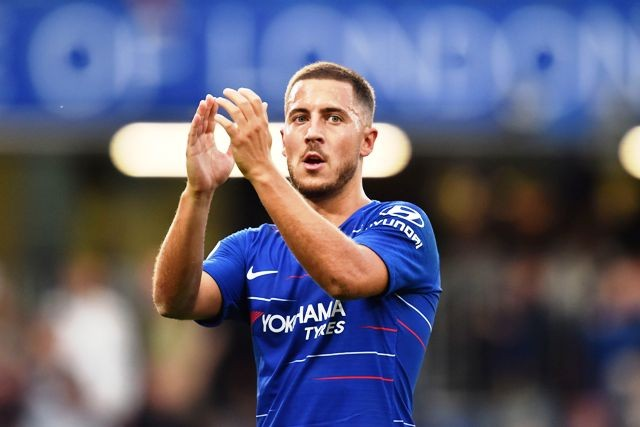 Eden Hazard bahagia di Chelsea-AFP/GLYN KIRK