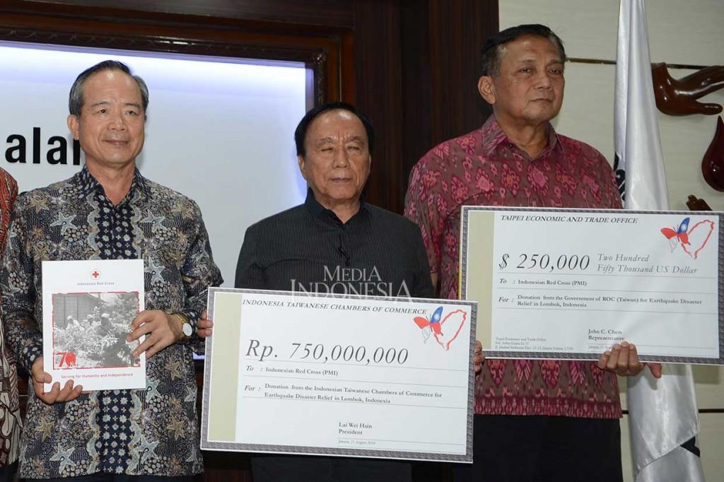 Taiwan Sumbang Rp 4,4 Miliar untuk Korban Gempa Lombok