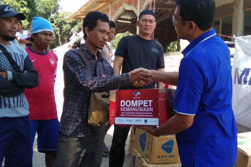 Media Group Serahkan Bantuan untuk Korban Gempa Lombok