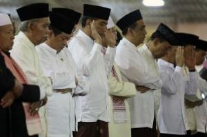 Presiden Jokowi Salat Iduladha di Cibinong