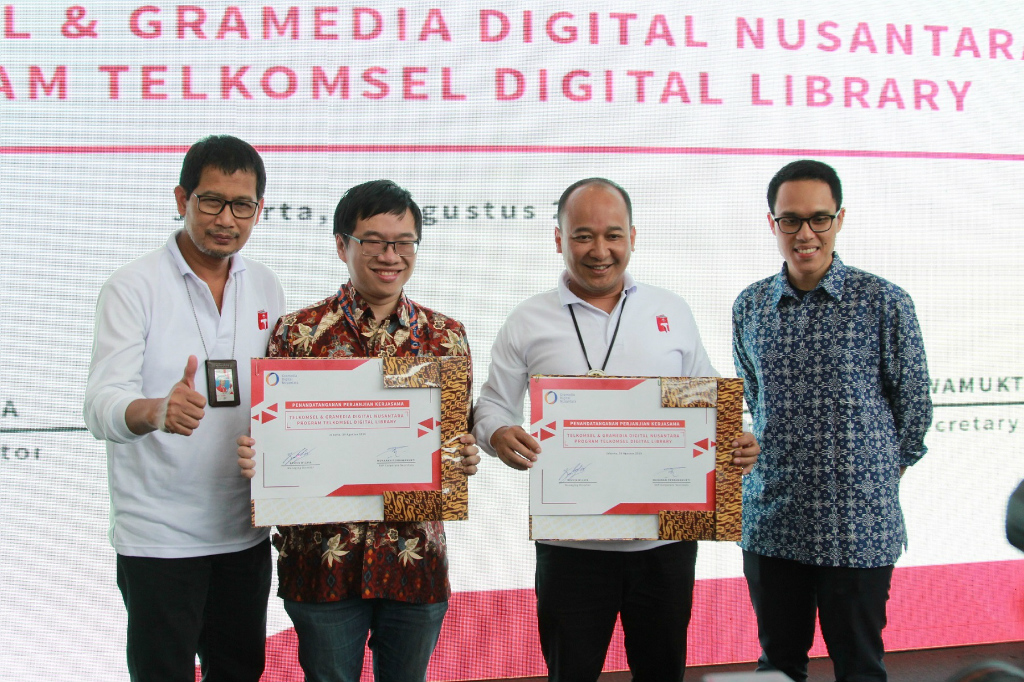 Telkomsel dan Gramedia Digital Nusantara mengumumkan kehadiran Telkomsel Digital Library atau T-Perpus.
