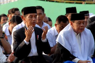 Presiden Salat Iduladha di Bogor