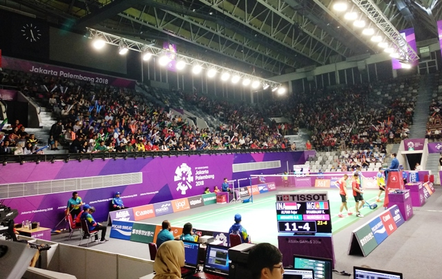 Istora selalu pemuh dengan suporter yang mendukung atlet bulu tangkis Indonesia-Medcom.id/Riyan