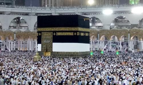 ILUSTRASI: Ribuan umat Islam sedang bertawaf mengelilingi