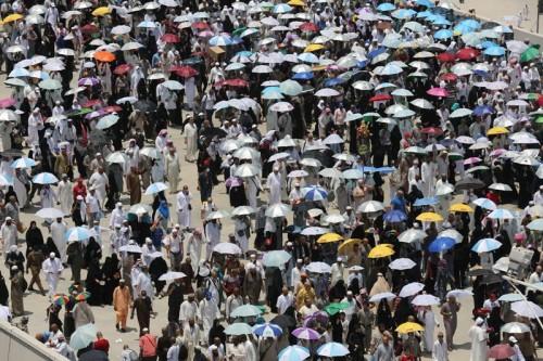 ILUSTRASI: Jutaan jemaah haji berjalan di Mina, Arab
