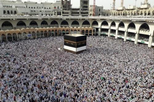 Jutaan umat Islam melaksanakan tawaf di Masjidil Haram, Mekah,
