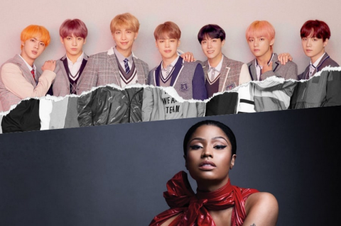 BTS Gandeng Nicki Minaj untuk Singel Idol Versi Baru