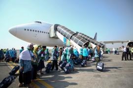 Jemaah Haji Kloter Palembang Pertama Pulang ke Indonesia