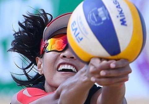 Tim Voli Pantai Putri Indonesia Raih Perunggu