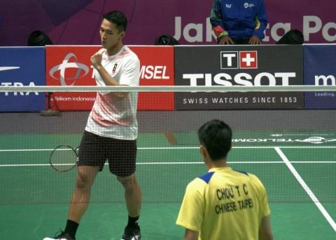 Bungkam Chou Tien, Jonatan Christie Sumbang Emas ke-23 Indonesia