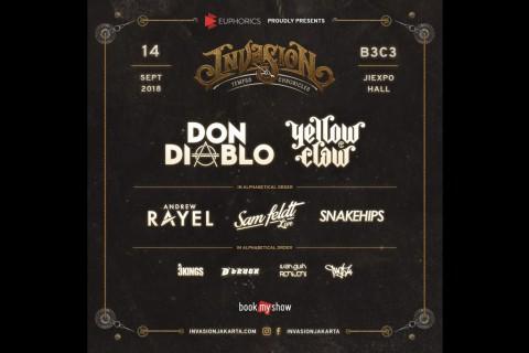 Yellow Claw dan Don Diablo Meriahkan Invasion 2018 di Jakarta