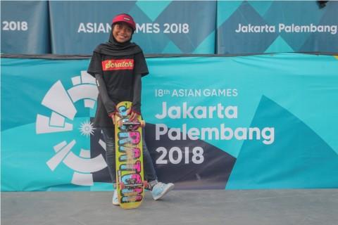 Skateboard Putri Sumbangkan Medali