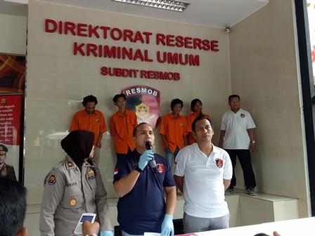 Konferensi Pers penangkapan empat preman Tanah Abang, Jakarta