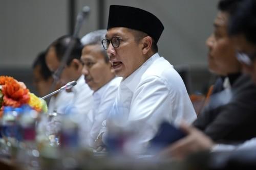 Menag RI Lukman Hakim Saifuddin dalam rapat kerja dengan Komisi