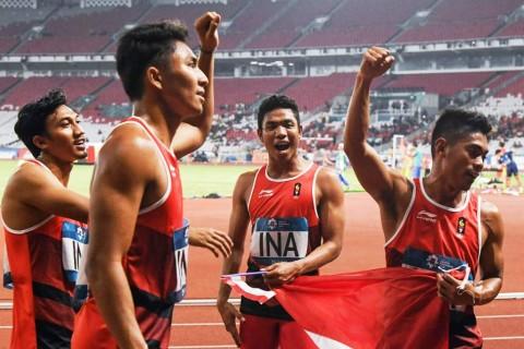 Lalu Muhammad Zohri Cs Raih Perak Lari Estafet 4x100 Meter Putra