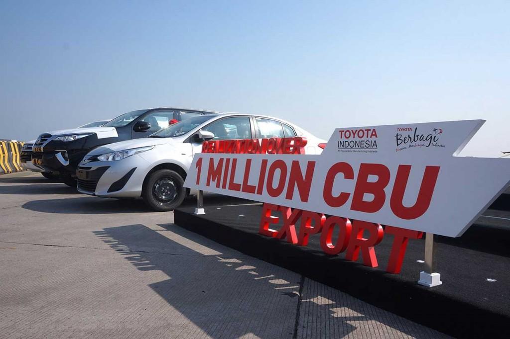 Ekspor CBU Toyota Indonesia Capai Satu Juta Unit