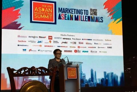 Menlu Retno: Kaum Milenial Aset untuk Kembangkan ASEAN