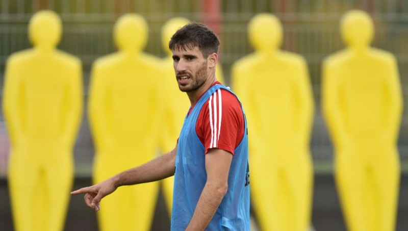 Gelandang Bayern Muenchen, Javi Martinez (AFP/Christof Stache)