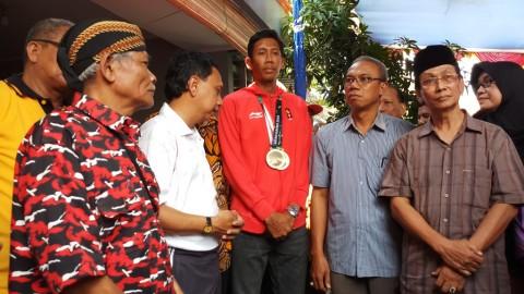 Atlet Peraih Dua Perunggu Asian Games Diarak Keliling Tegal