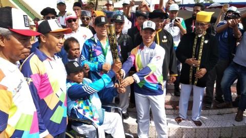 Ternate Wilayah Pertama yang Dilintasi Parade Obor Asian Para Games 2018