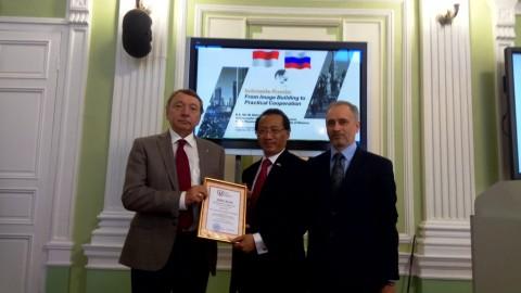 Dubes RI dapat Penghargaan Visiting Professor dari Universitas Rusia