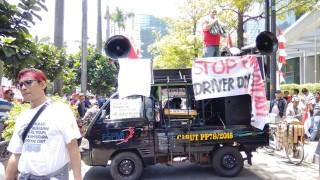 Pengemudi Transportasi Online Gelar Demonstrasi