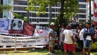 Jalan Rasuna Said Macet akibat Demo di Kantor Grab