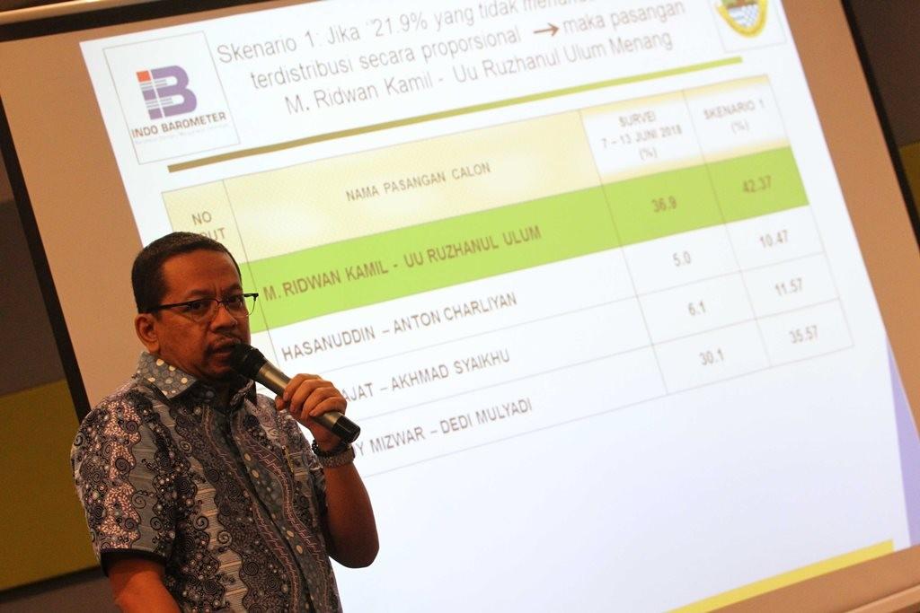 Pengamat politik sekaligus Direktur Eksekutif Indo Barometer M Qodari. (Foto: MI/Adam Dwi)