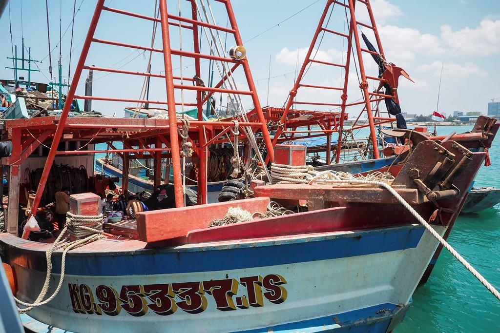 Kapal nelayan asing di Perairan Batam. (Foto: ANT).