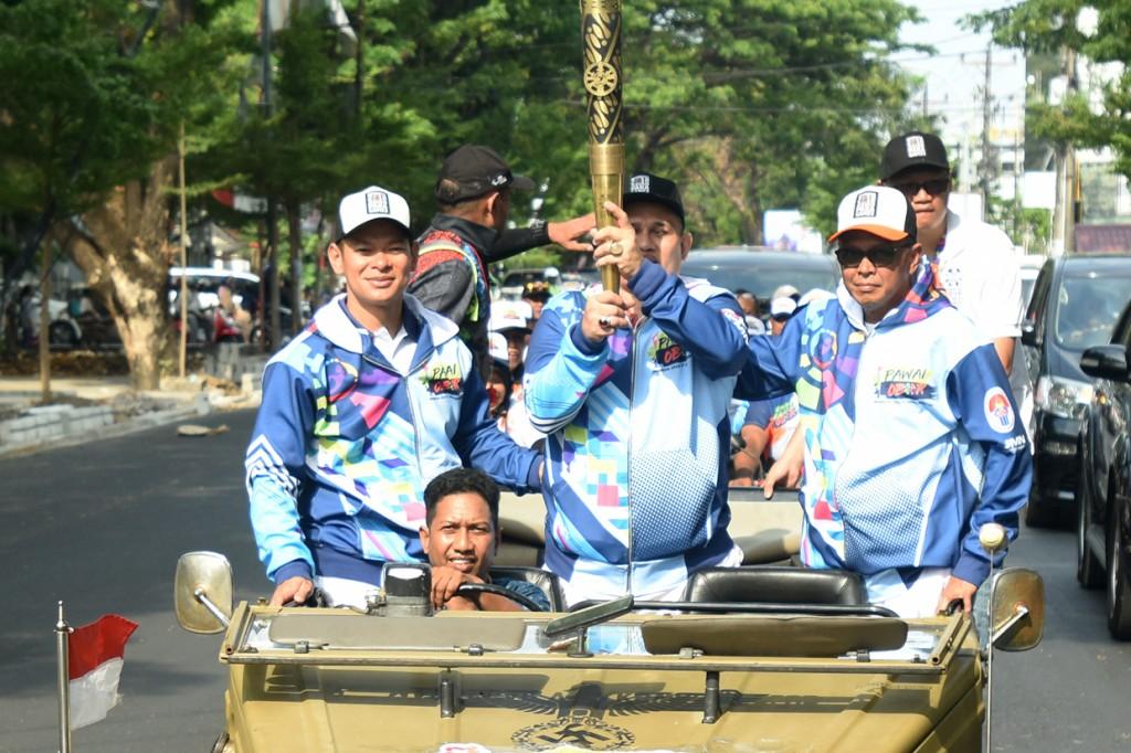 Pawai Obor Asian Para Games 2018 Singgah di Makassar