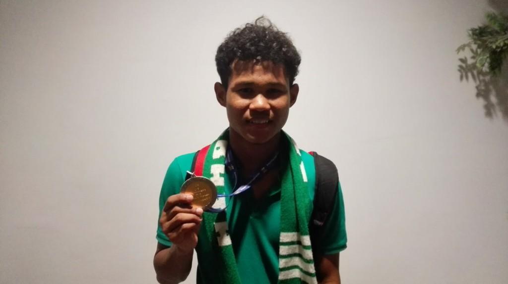 Striker tim nasional Indonesia Amiruddin Bagus Kaffi (Foto:A. Firdaus/Medcom.id)