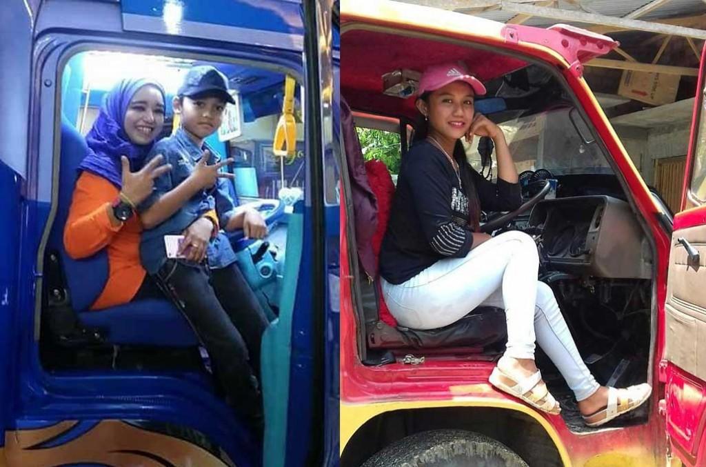Mitsubishi Fuso pertimbangkan fitur khusus untuk kenyamanan perempuan pengemudi truk. Syarifah/Rukha