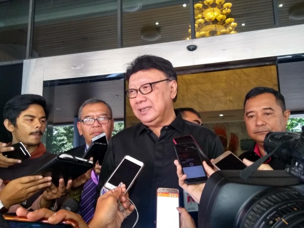 Menteri Dalam Negeri Tjahjo Kumolo. Foto: Medcom.id/Kautsar Widya Prabowo.
