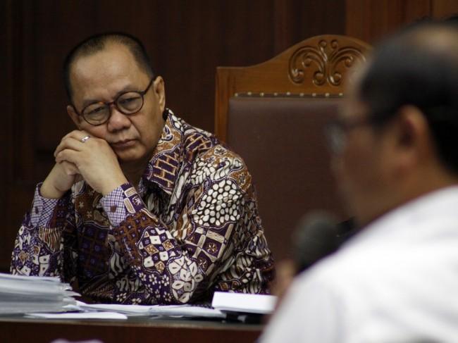 Terdakwa mantan Kepala Badan Penyehatan Perbankan Nasional (BPPN) Syafruddin Arsyad Temenggung - MI/Bary Fathahilah.