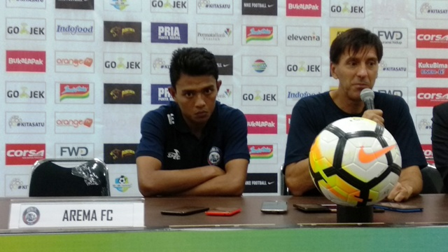 Pelatih Arema FC Milan Petrovic-Medcom.id/Roni