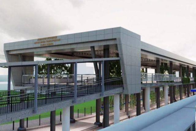 Desain skybridge Tanah Abang (PD Pembangunan Sarana Jaya)