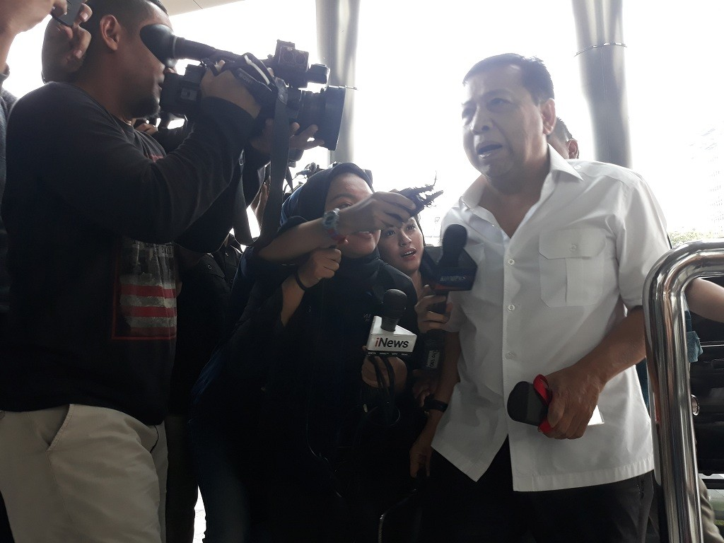 Terpidana kasus korupsi Kartu Tanda Penduduk elektronik (KTP-el) Setya Novanto - Medcom.id/Sunnaholomi Halakrispen.