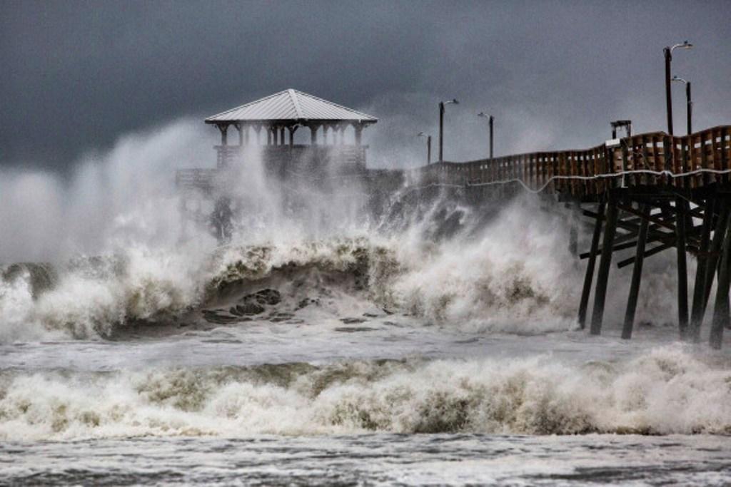 Badai Florence di North dan South Carolina. (Foto: New York Post).