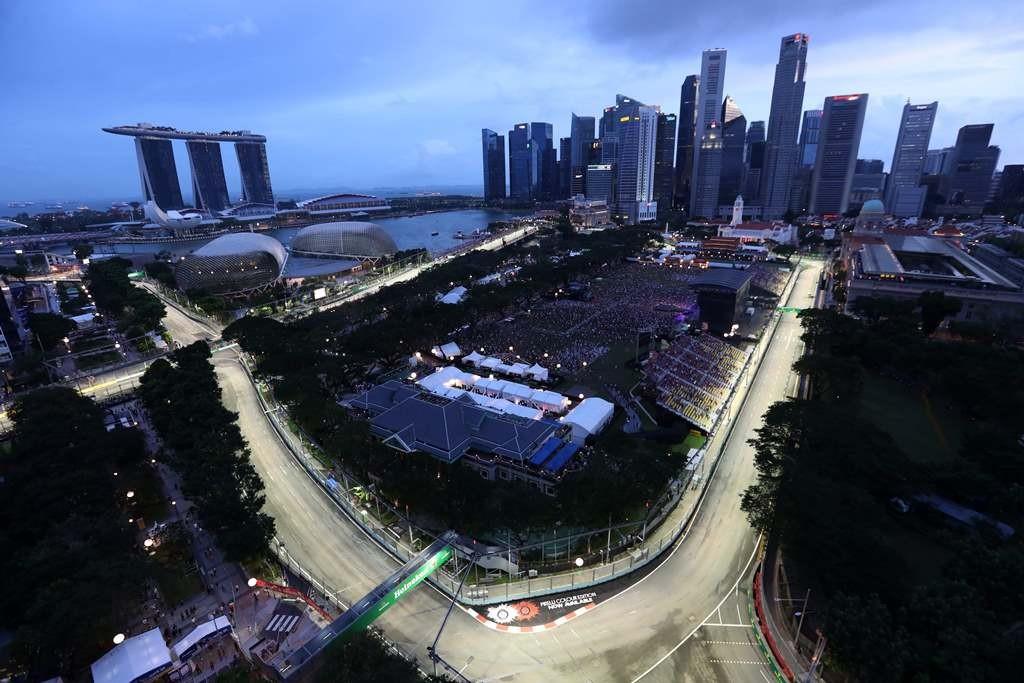 Sirkuit Marina Bay, Singapura. (Foto: AFP)