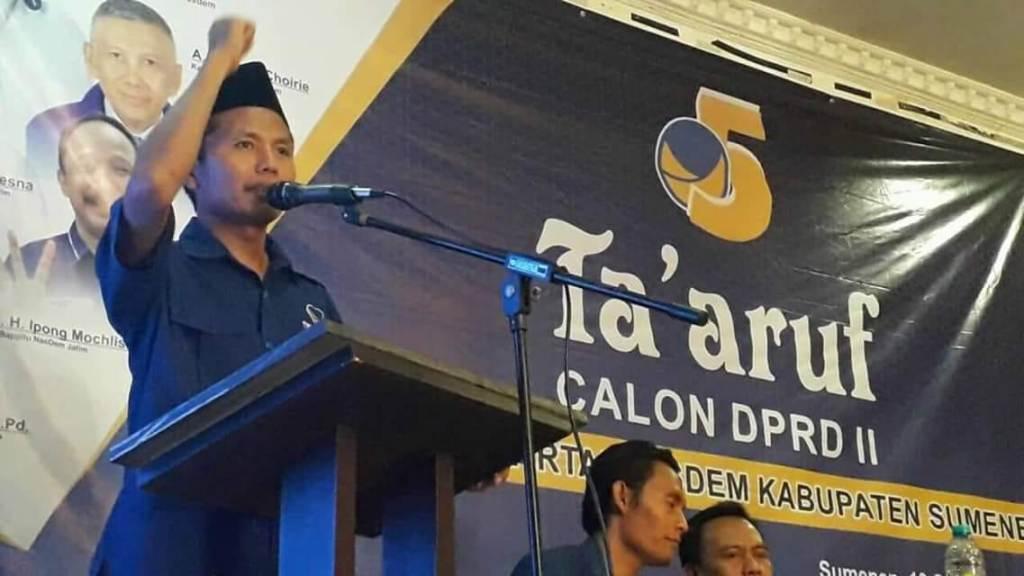 Ketua  Pengurus DPD NasDem Sumenep,  Tirmidzi - Medcom.id / Rahmatullah
