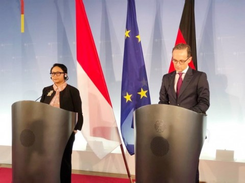 Foreign Minister Retno Marsudi and Germany Foreign Minister