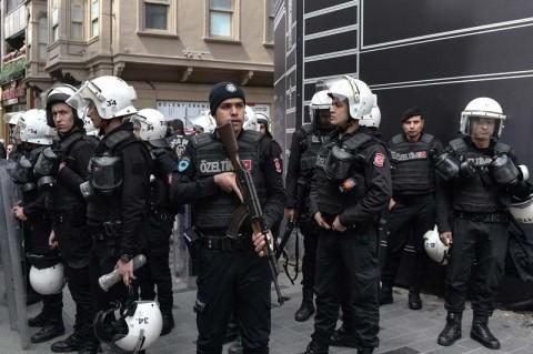 Pasukan keamanan Turki terlibat dalam penanganan protes pekerja