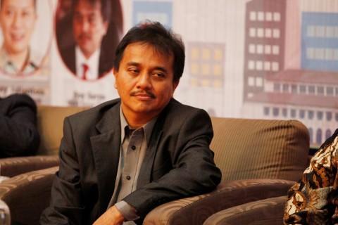 Mantan Menteri Pemuda dan Olahraga Roy Suryo. (MI/Rommy Pujianto)