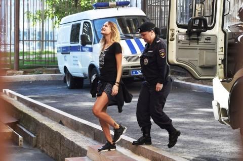 Veronika Nikulshina, kekasih Petr Verzilov. (Foto: AFP PHOTO /