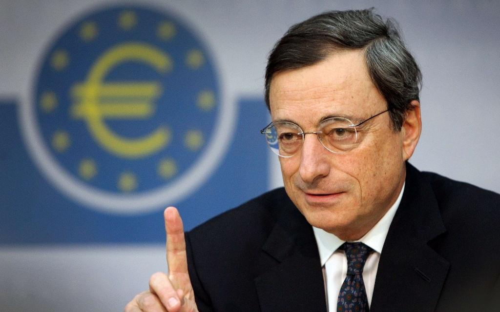 Presiden European Central Bank Mario Draghi (DANIEL ROLAND/AFP)