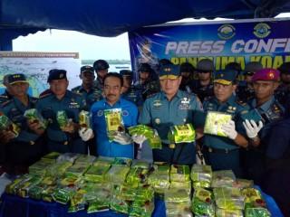 TNI AL Gagalkan Penyelundupan 67 Kg Sabu